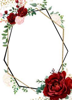Floral Wallpaper Phone, Framed Wallpaper, Flower Background Wallpaper, Flower Backgrounds, Rose Background, Wedding Invitation Background, Floral Invitation, Floral Wedding Invitations, Wedding Background Images