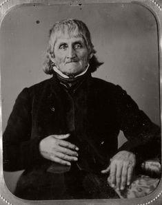 Photo collection of mid XIX century Victorian Era Daguerreotype Portraits of People born in the late 18th century (1700s).  From the collection of Jesse Cress