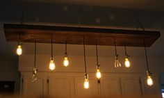 Wonderful Hanging Ceiling Lights Ideas Decor Amp Tips Diy Reclaimed Lumber Hanging Edison Bulb Chandelier