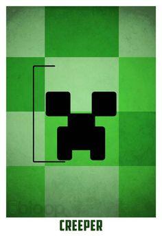 My children's favorite: The Creeper (from Minecraft) Hama Beads Minecraft, Minecraft Pixel Art, Creeper Minecraft, Minecraft Stuff, Minecraft Skins, Minecraft Buildings, Minecraft Quotes, Minecraft Posters, Minimalist Poster