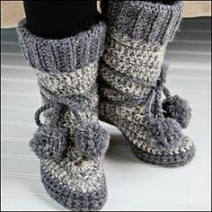 crochet eskimo boots free pattern