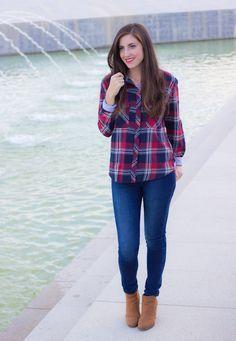 outfits juveniles con blusas de cuadros - Buscar con Google