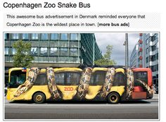 Copenhagen Zoo Snake Bus - Emilie Jordanou: Creative Outdoor Advertising
