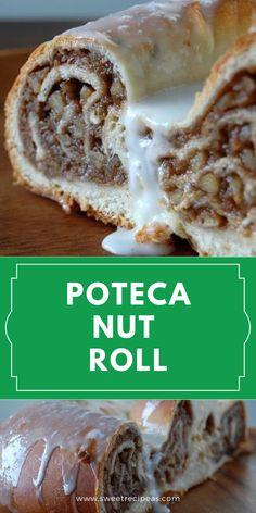 Ukrainian Recipes, Croatian Recipes, Hungarian Recipes, Ukrainian Food, German Recipes, Best Nut Roll Recipe, Polish Nut Roll Recipe, Quick Easy Desserts, Delicious Desserts