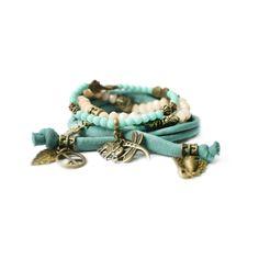 Naja Ibiza Design Bracelets Turquoise! http://www.vybzstyle.nl/accessoires/sieraden/armbanden/