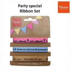 Nieuw bij Knutselparade: 1D Marianne Design party product ribbons set PP1406 https://knutselparade.nl/nl/versieringen/2180-1d-marianne-design-party-product-ribbons-set-pp1406.html   Scrapbook, Scrapbookversieringen, Versieringen, Lint -  Marianne Design