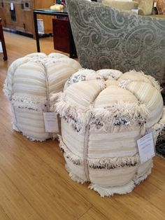 moroccan wedding blanket poufs-reminds me of the Morroccan penpal I had at 13 who invited me to his country to marry him and live on the beach...haha