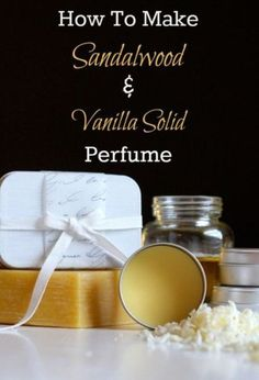 The best DIY projects & DIY ideas and tutorials: sewing, paper craft, DIY. DIY Skin Care Recipes : Sandalwood and Vanilla Solid Perfume Recipe -Read Essential Oil Perfume, Perfume Oils, Essential Oils, Perfume Bottles, Diy Maquillage, Diy Cosmetic, Perfume Lady Million, Perfumes Vintage, Handmade Soaps
