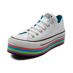 a6acfe9a11bb98 Shop for Womens Converse All Star Lo Platform Athletic Shoe in White at  Journeys Shoes.