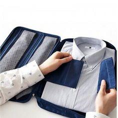 Multifunction Business Nylon Travel Shirt Sorage Bag Tie Organizer Pouch Men Travel Bag Bolso