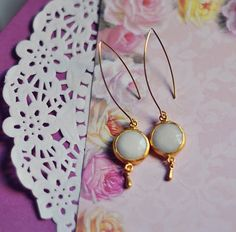 white  jade stone earrings    http://www.etsy.com/listing/82862087/candy-store-collection-milky-white-jade