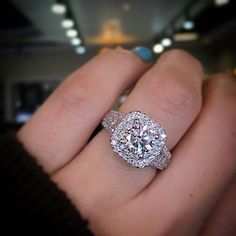 Gabriel NY Double Halo Engagement Ring / http://www.deerpearlflowers.com/double-halo-engagement-rings/