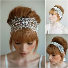 lacey wedding headband