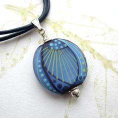 Lampwork  pendant art glass pendant blue glass by THEAjewellery, £36.00