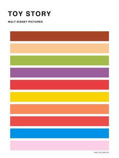 The colors of - Toy Story Art Print by hyos - X-Small Movie Color Palette, Colour Pallette, Color Palate, Inspiration For Kids, Color Inspiration, Makeup Inspiration, Popular Disney Movies, Snow White Art, Cumple Toy Story