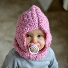 Crochet Baby Hooded Cowl with a link for toddler hooded cowl