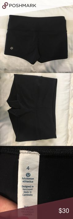 WORN ONCE LULULEMON SPANDEX SHORTS Legit worn once in a performance. Forgot I had them and don't really fit anymore! Condition is like new! lululemon athletica Shorts