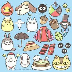 Ghibli Studio 's character and things :* Ghibli Tattoo, Art Studio Ghibli, Studio Ghibli Movies, Studio Ghibli Quotes, Studio Ghibli Characters, Hayao Miyazaki, Totoro Tumblr, Personajes Studio Ghibli, Howls Moving Castle