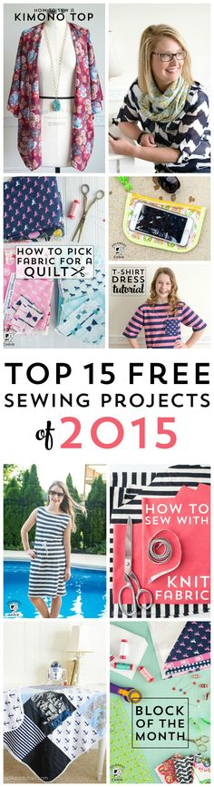 The top 15 best sewing patterns and tutorials of 2015 (they are free!)