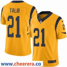 bc3a75654 Nike Los Angeles Rams  21 Aqib Talib Gold Men s Stitched NFL Limited Rush  Jersey