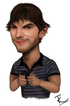 Ashton Kutcher    Artist: TobyK    website: http://tobyk-art.blogspot.com/