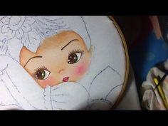 Pintura en tela niña girasol # 1 con cony - YouTube
