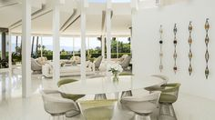 Elegant Architecture, White Elegant Dinning Table Design Ideas Smooth: Awesome Southern  California House Celebrates The Endless Summer Design