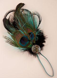 Newborn Peacock feather headband READY TO by McKenzieGraceDesigns, $12.99