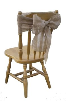 "Natural Burlap JUTE Fabric Sashes, Chair Bows (Pack of 50) - 7"" X 108"" #BurlapStorecom"