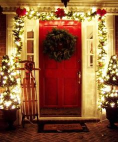 we are here to provide you ideas about Christmas porch decoration.So without further ado here are our 25 Amazing Christmas Front Porch Decorating Ideas Home Depot Christmas Lights, Outside Christmas Decorations, Christmas Front Doors, Christmas Porch, Merry Little Christmas, Winter Christmas, Christmas Crafts, Cheap Christmas, Holiday Decorations