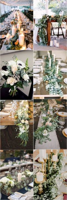 40 Greenery Eucalyptus Wedding Decor Ideas [tps_header][/tps_header] Today I'd like to inspire you with adorably fresh neutral wedding ideas that will be amazing for your spring nuptials. Wedding Table Decorations, Flower Decorations, Wedding Centerpieces, Wedding Bouquets, Table Centerpieces, Centerpiece Ideas, Green Wedding Arrangements, Table Flower Arrangements, Centerpiece Flowers
