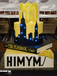 How I Met Your Mother 200th Episode Celebration Cake (Complete with Lights) - The Butter End Cakery
