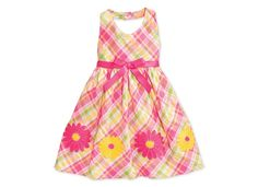 Blueberri Boulevard Little Girls' Plaid Halter Dress - Kids Toddler Girls (2T-5T) - Macy's