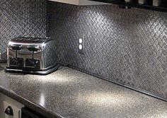 stainless steel faux metal tin backsplash roll by ctbu more