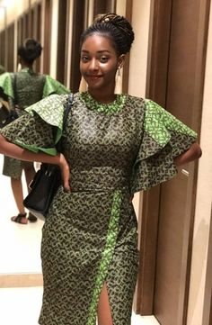 Call, SMS or WhatsApp if you want this style, needs a skilled tailor to hire or you want to expand more on your fashion business. African Dresses For Women, African Print Dresses, African Attire, African Wear, African Fashion Dresses, African Inspired Fashion, African Print Fashion, Africa Fashion, African Blouses