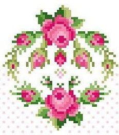 cross stitch kate miles a rose is a rose - voir tout le tableau