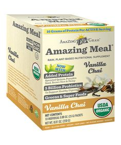 Love this Vanilla Chai Amazing Meal Supplement Packets - Set of 10 on #zulily! #zulilyfinds
