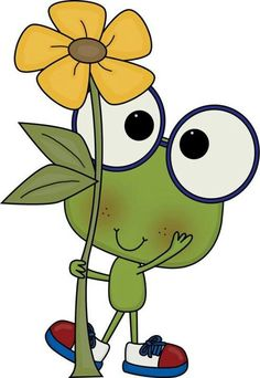 ranita con flor