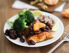 Indian-Spiced Broiled Salmon with Citrus Tart Cherry Chutney + #Giveaway!  #ad #sponsored #GoTart @Tart Cherries