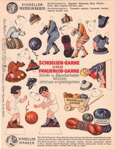 Schoeller Marken, German paper doll ad, c. 1930s