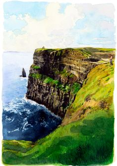 A fine piece of Cliffs of Moher Art Work -   Iconic Itineraries - 5 Perfect days travel in Dublin and County Clare to fulfill all fantasy's you might have about the Emerald Isle!    Three Days in the City and Two in the Country.  http://www.cntraveler.com/iconic-trips/2012/11/dublin-ireland-travel-guide-hotels-accommodations-restaurants-pubs-sights-golf