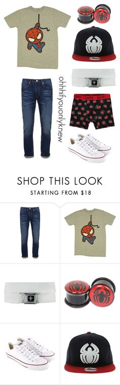 """Spiderman"" by ohhhifyouonlyknew ❤ liked on Polyvore featuring Topman, Marvel, Converse, Zara, marvel comics, casual, superhero, my style, my creations and marvel"