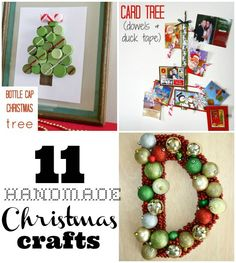 11 Handmade Christmas Crafts #Christmas - think I'll try a few of these this year