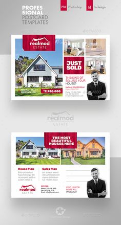 Buy Real Estate Postcard Templates by on GraphicRiver. Real Estate Postcard Templates Fully layered INDD Fully layered PSD 300 Dpi, CMYK IDML format open Indesign or la. Postcard Template, Postcard Design, Real Estate Flyers, Real Estate Marketing, Real Estate Postcards, Open House Invitation, Real Estate Flyer Template, Graphic Design, Ad Design