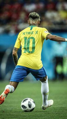WK voetbal # neymar's new hair Brazil Football Team, Neymar Football, Football Is Life, Football Player Drawing, Football Players, Neymar Jr Hairstyle, Neymar Jr Wallpapers, Messi And Neymar, Soccer World