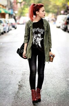 Hipster Girl Fashion Outfits Edgy Style inspirations brought to you by www.sleekster.club #womensfashionhipsteredgy