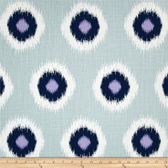 """Screen printed on slub duck; this versatile """"Drew"""" is a lighter weight fabric and perfect for window accents (draperies, valances, curtains and swags), accent pillows, bed skirts, duvet covers, upholstery and other home decor accents. Create handbags, tote bags, aprons and more. *Use cold water and mild detergent (Woolite). Drying is NOT recommended - Air Dry Only - Do not Dry Clean. Colors include white, navy, lavender and light grey."""