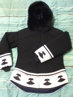 Inuit made women's parka by Karyn Amitnak