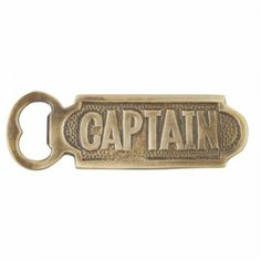 Brass Captain Bottle Opener |  Hand held Bottle Opener | Small Bottle Opener | Nautical bottle opener