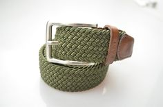 https://www.cityblis.com/item/9026 | Weaved Elastic Belt - Army Green - $60 by Fane Footwear | FANE – Woven Elastic Belts  The Gentleman knows that its imperative to match your shoes to your belt!  You have our shoes, now it's time to match the belt to complete your stylish look!  Our range of belts are designed to complement your outfit, to add that bit of Swag to your FANE... | #Other Mens Clothing